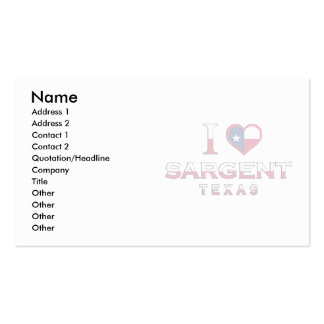 Sargent, Texas Business Card Template