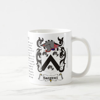 Sargent, the History, the Meaning and the Crest Mugs