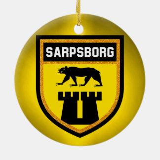 Sarpsborg Flag Ceramic Ornament