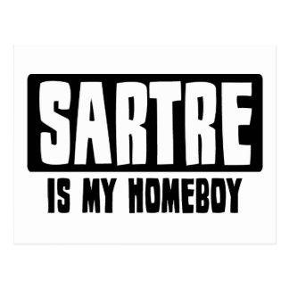Sartre is my Homeboy Postcard