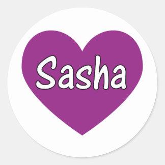 Sasha Classic Round Sticker