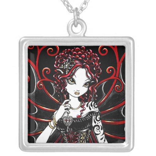 """Sasha"" Goth Valentine Couture Red Fairy Necklace"
