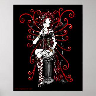 Sasha Red Couture Fairy Poster