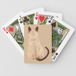 Sasha Siamese Cat Mom Kitty Looking Away Drawing Bicycle Playing Cards