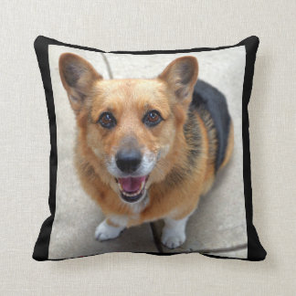 Sasha Smiles Throw Pillow