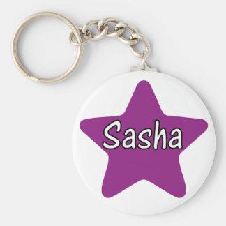 Sasha Star Basic Round Button Keychain