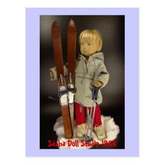 Sasha studio doll postcard