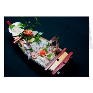Sashimi Boat. Card