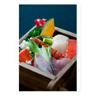 Sashimi in Japan, Japanese Cuisine Postcard