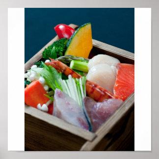 Sashimi in Japan, Japanese Cuisine Poster