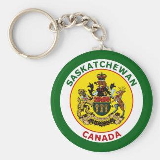 SASKATCHEWAN, CANADA BASIC ROUND BUTTON KEYCHAIN