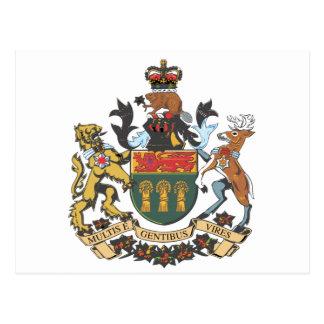 Saskatchewan (Canada) Coat of Arms Postcard