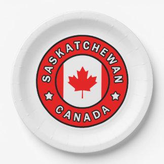 Saskatchewan Canada Paper Plate