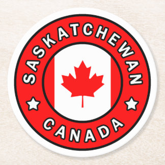 Saskatchewan Canada Round Paper Coaster