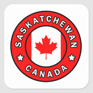 Saskatchewan Canada Square Sticker