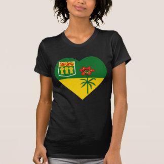 Saskatchewan Flag Heart T-shirts