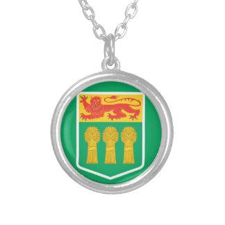SASKATCHEWAN Flag Silver Plated Necklace