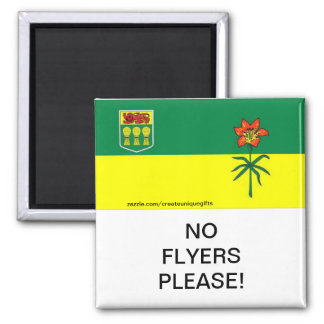 Saskatchewan No Flyers Please mail Box Magnet