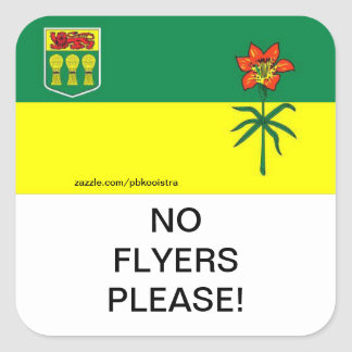 Saskatchewan No Flyers Please mail Box Sticker
