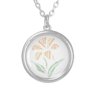 Saskatchewan Prairie Lily Art Silver Plated Necklace