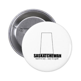 saskatchewan simple drawing, hard to say 2 inch round button