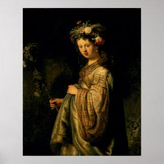 Saskia as Flora, 1634 Poster