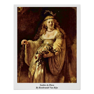 Saskia As Flora By Rembrandt Van Rijn Print