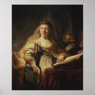 Saskia as Minerva Poster