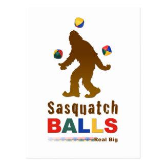 Sasquatch Balls Postcard