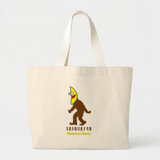 Sasquatch Banana Head Large Tote Bag