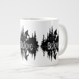 Sasquatch, Big Foot Lake Reflection Large Coffee Mug