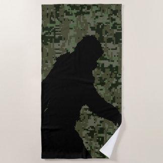 Sasquatch Bigfoot Silhouette Squatchin Beach Towel