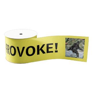 Sasquatch caution tape grosgrain ribbon