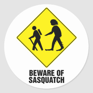 Sasquatch Classic Round Sticker