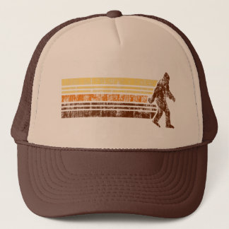 Sasquatch Distressed Vintage Retro Trucker Hat