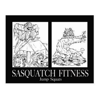 Sasquatch Fitness Series Pic #1 JUMP SQUATS Postcard