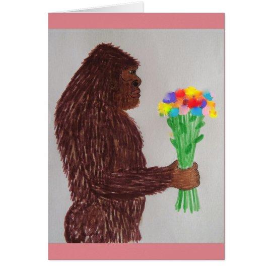 Sasquatch flowers love card