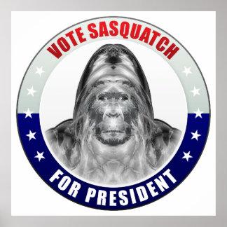 Sasquatch For President Print