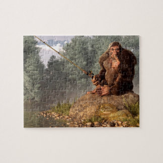 Sasquatch Goes Fishing Jigsaw Puzzle