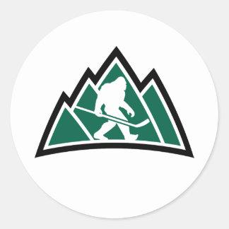 "Sasquatch Hockey 1"" round sticker (sheet of 20)"