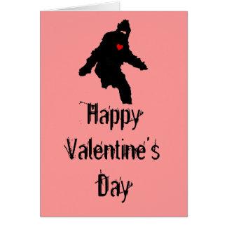 Sasquatch Love:  Happy Valentine's Day Card