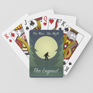 Sasquatch Man Myth Legend Playing Cards