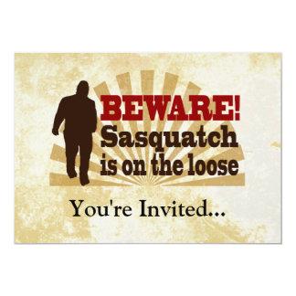 "Sasquatch on the Loose 5"" X 7"" Invitation Card"
