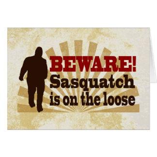 Sasquatch on the Loose Card