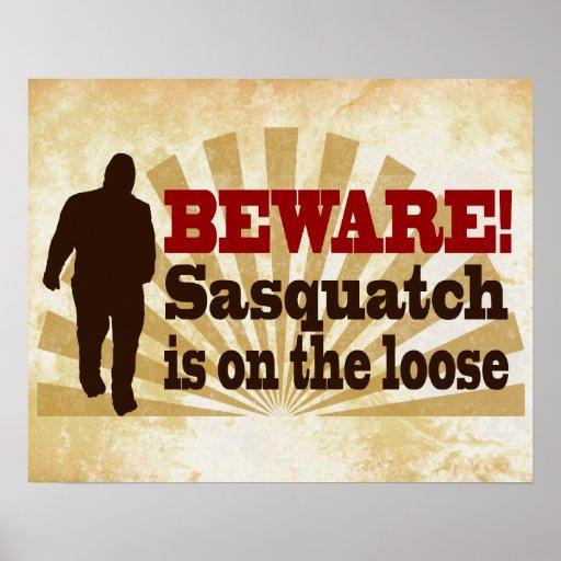Sasquatch on the Loose Print