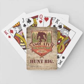 Sasquatch Outfitter Company Playing Cards