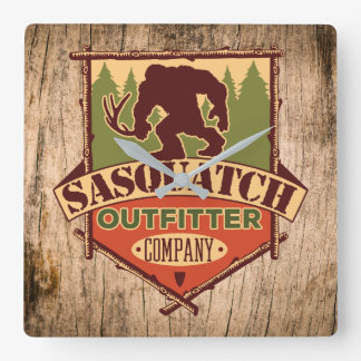 Sasquatch Outfitter Company wall clock