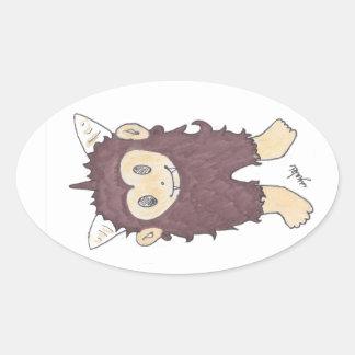 sasquatch oval sticker