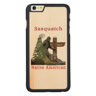 sasquatch products carved maple iPhone 6 plus case