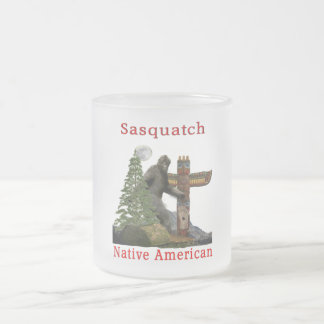 sasquatch products frosted glass coffee mug